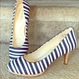 Coach striped pumps 7.5 heels